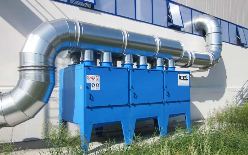 Filtri a tasche per olio impianto 3