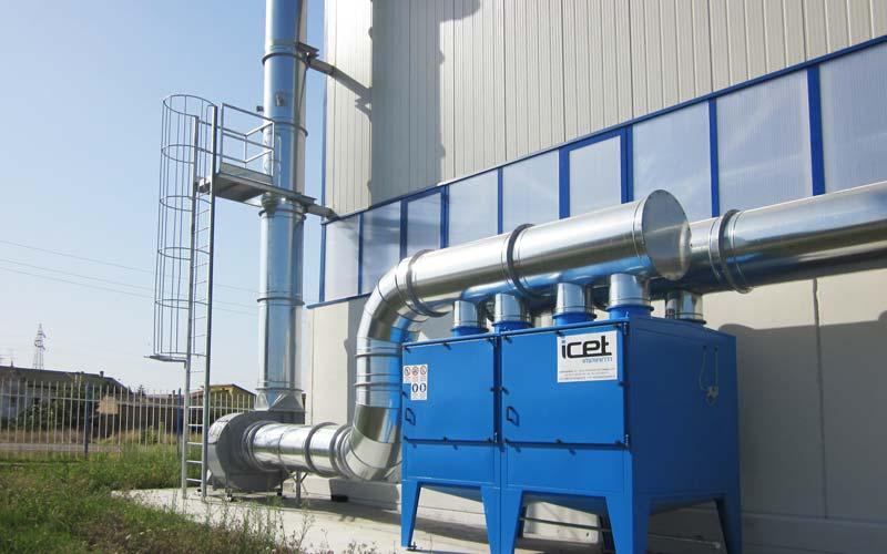 Filtri a tasche per olio impianto 2