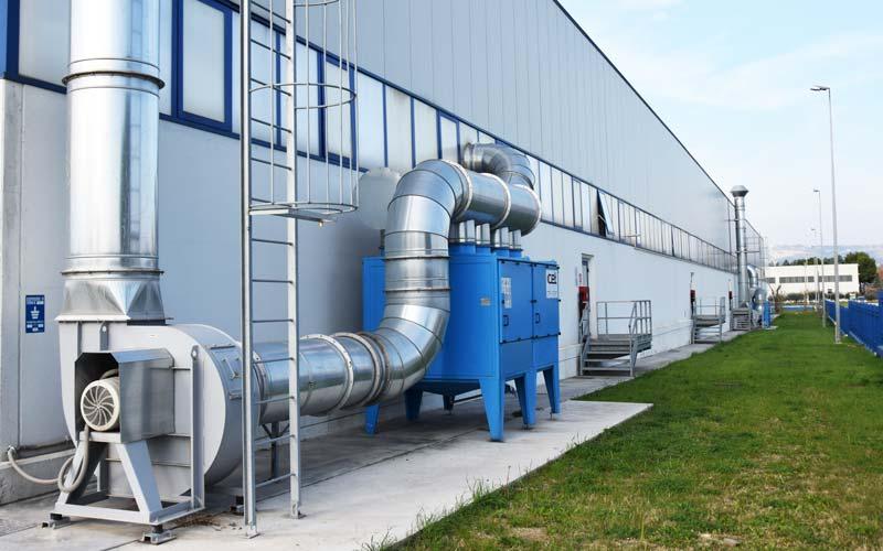 Filtri a tasche per olio impianto 1